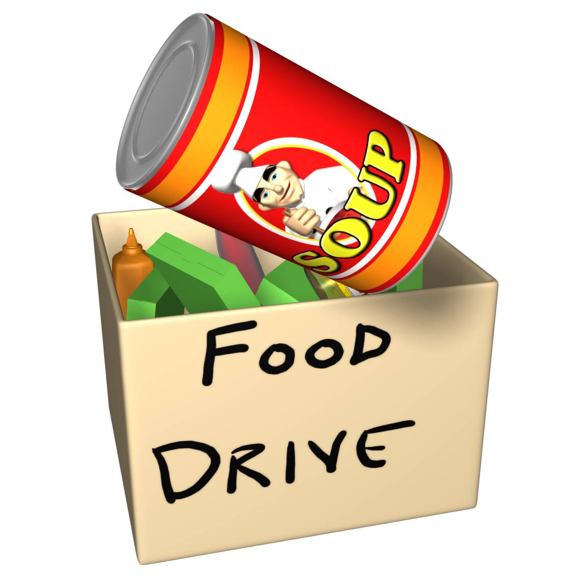 Viewing Gallery For - Canned Food Drive Clip Art