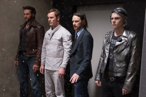 Wolverine, Erik Lenshurr, Charles Xavier and Quicksilver.